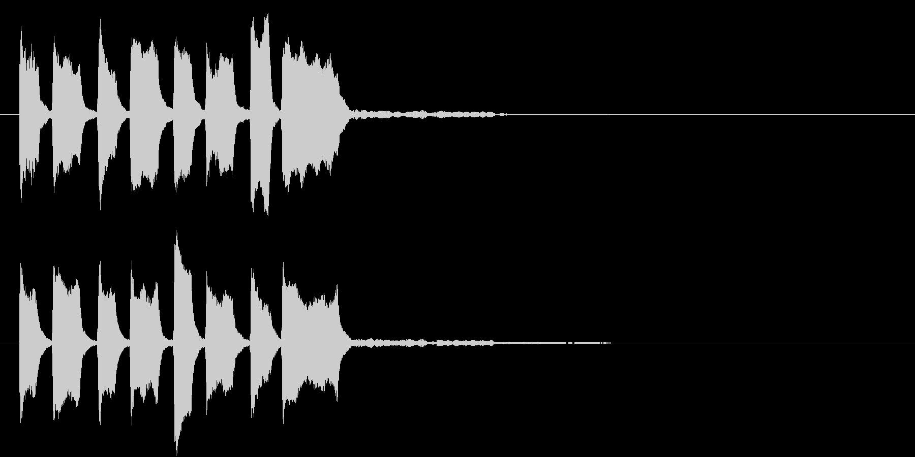 ピコピコピコピコン(クイズ正解)の未再生の波形