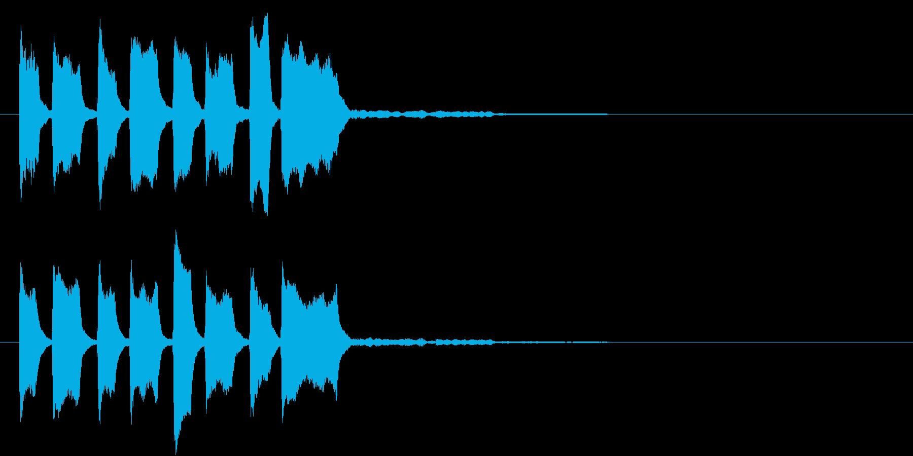 ピコピコピコピコン(クイズ正解)の再生済みの波形