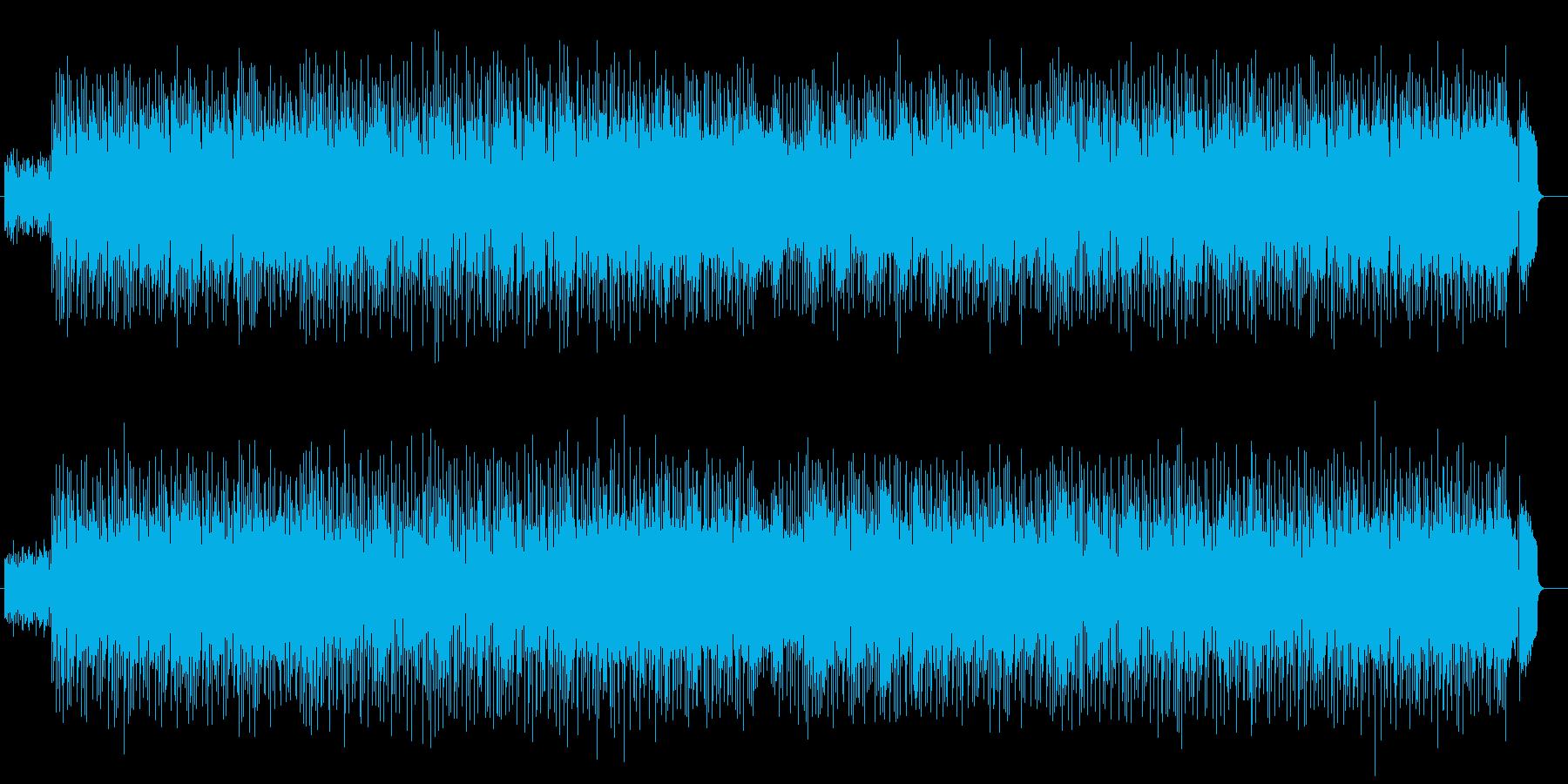 アップテンポシンセサイザー曲の再生済みの波形