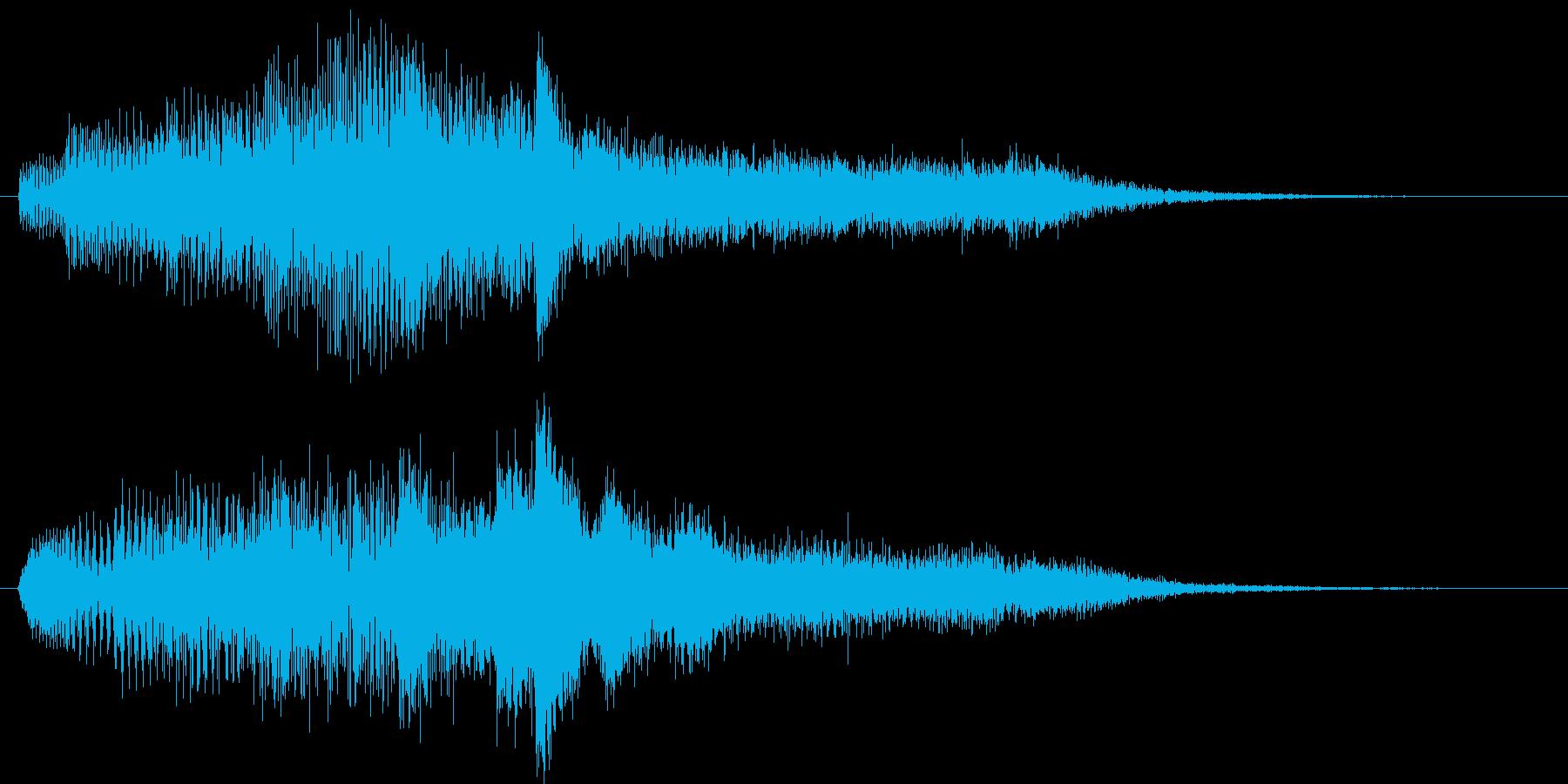 タイトル用サウンド・サウンドロゴ風ピアノの再生済みの波形