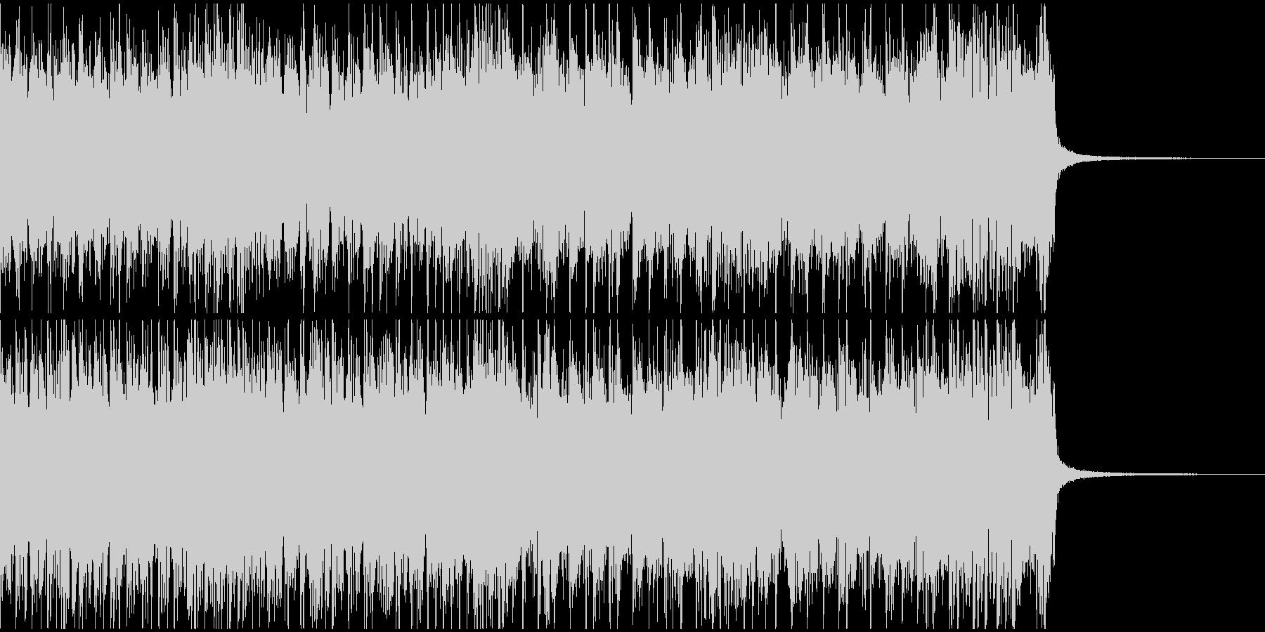 疾走感ある攻撃的なヘヴィメタルジングルの未再生の波形