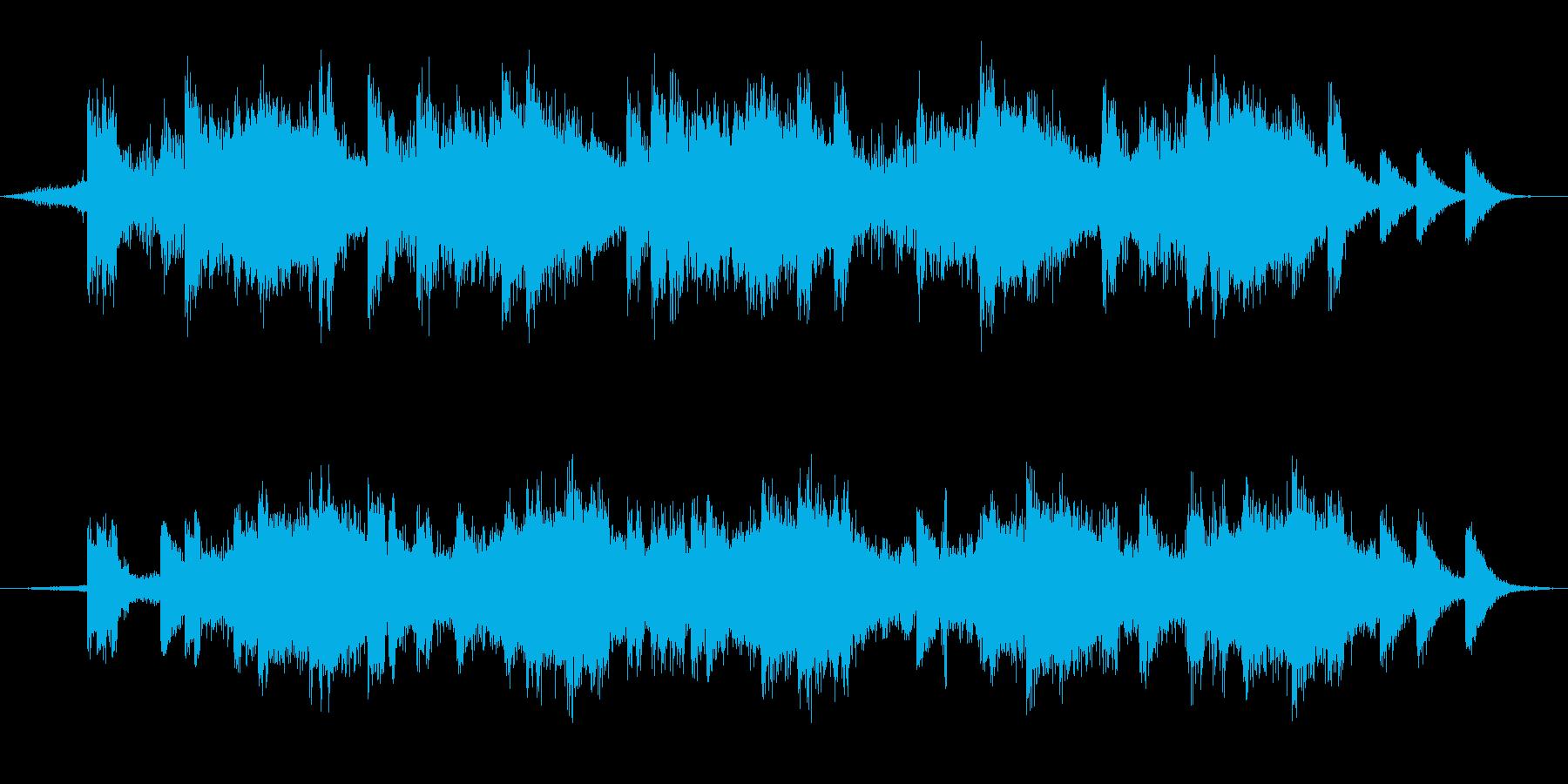 戦場イメージの効果音(タイプD)の再生済みの波形