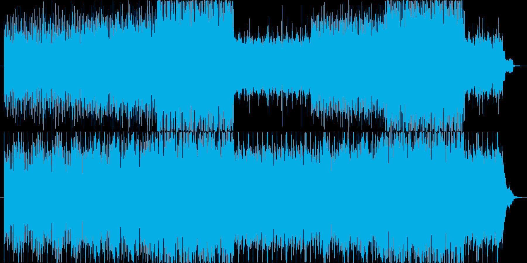 ゆったりとした曲ですの再生済みの波形