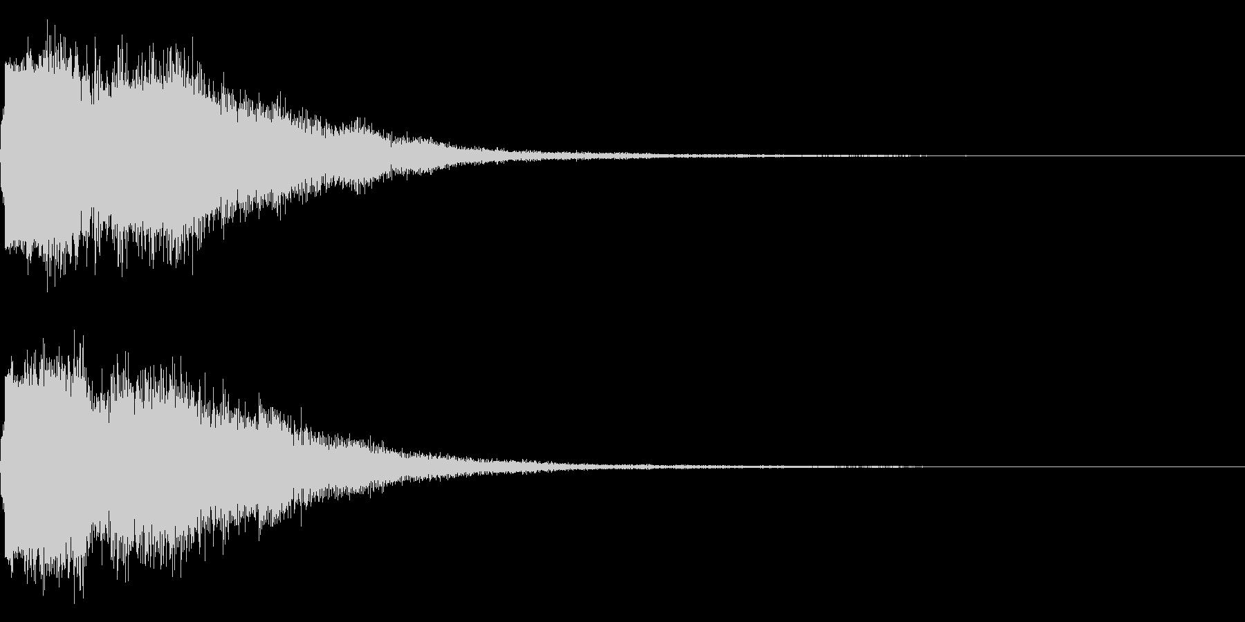 琴と刀の【シャキーン!】和風ロゴ 15の未再生の波形