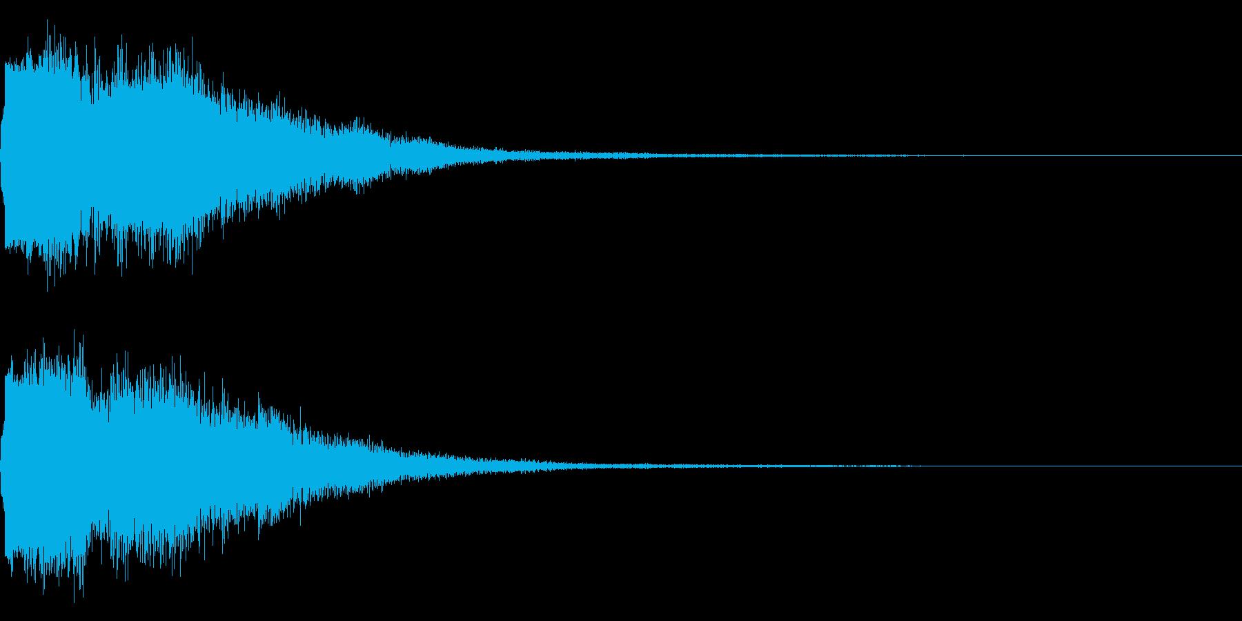 琴と刀の【シャキーン!】和風ロゴ 15の再生済みの波形