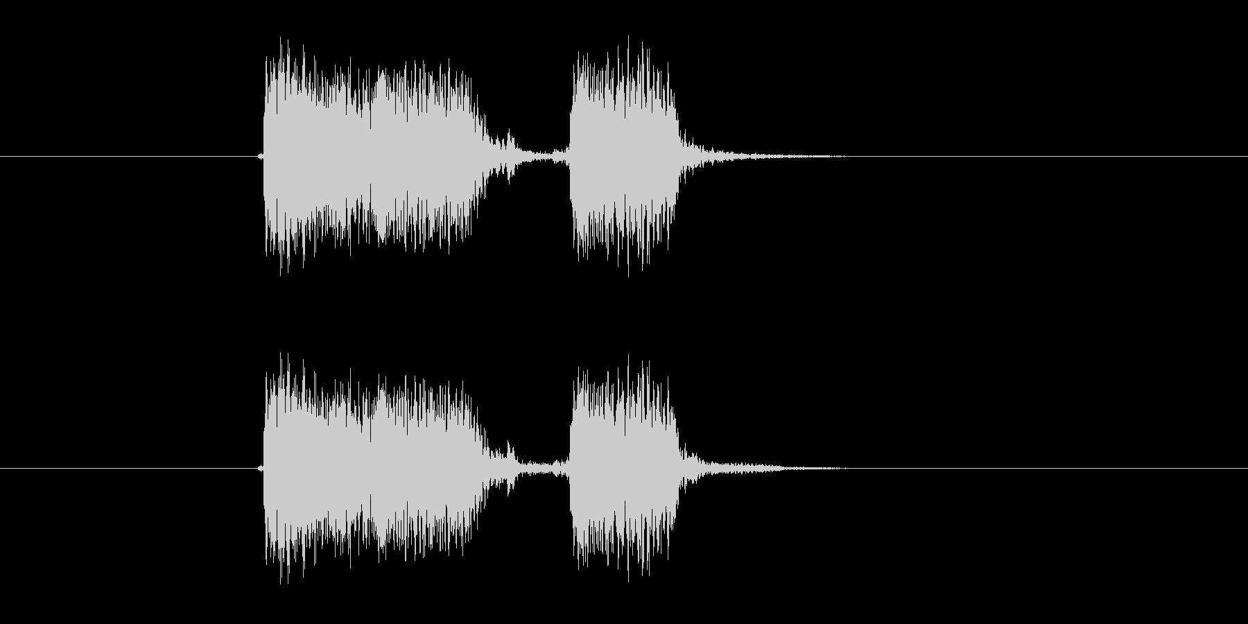 ジャジャン(ギター、弦楽器)の未再生の波形