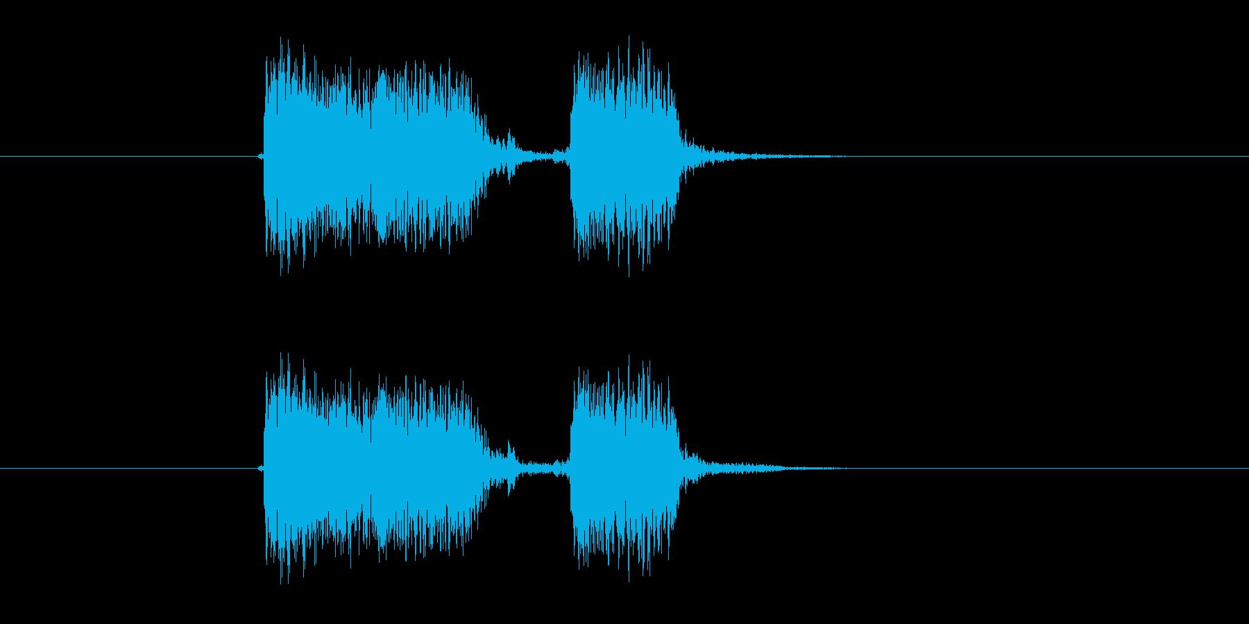 ジャジャン(ギター、弦楽器)の再生済みの波形