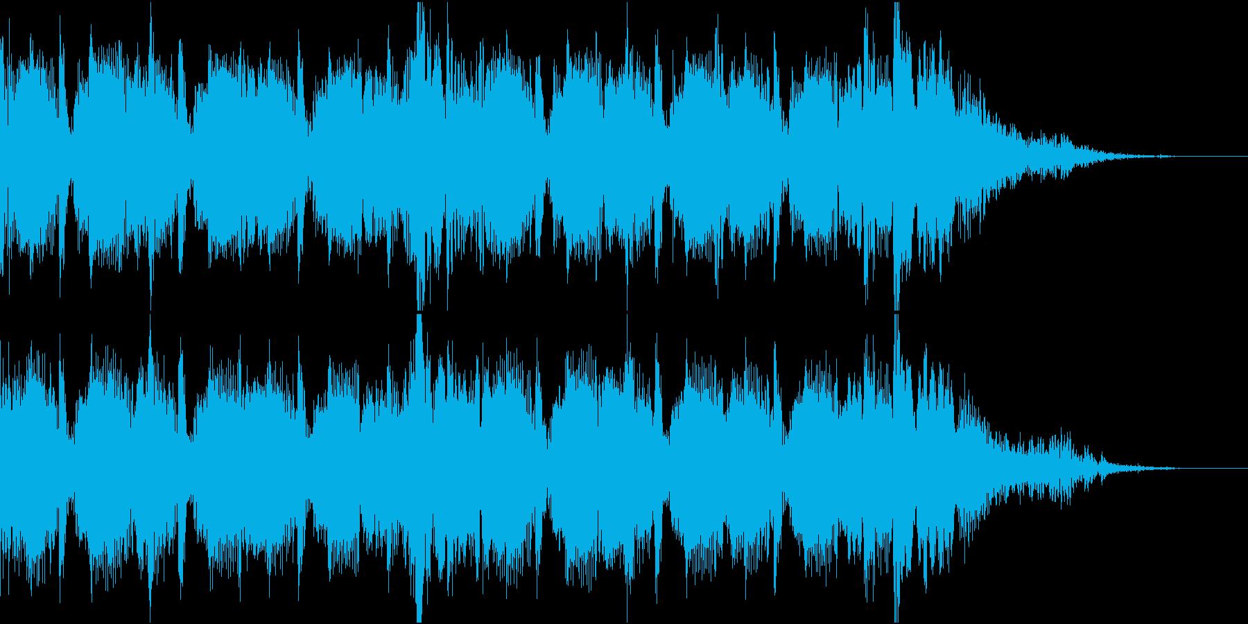 軽快なエレクトロ ジングルの再生済みの波形
