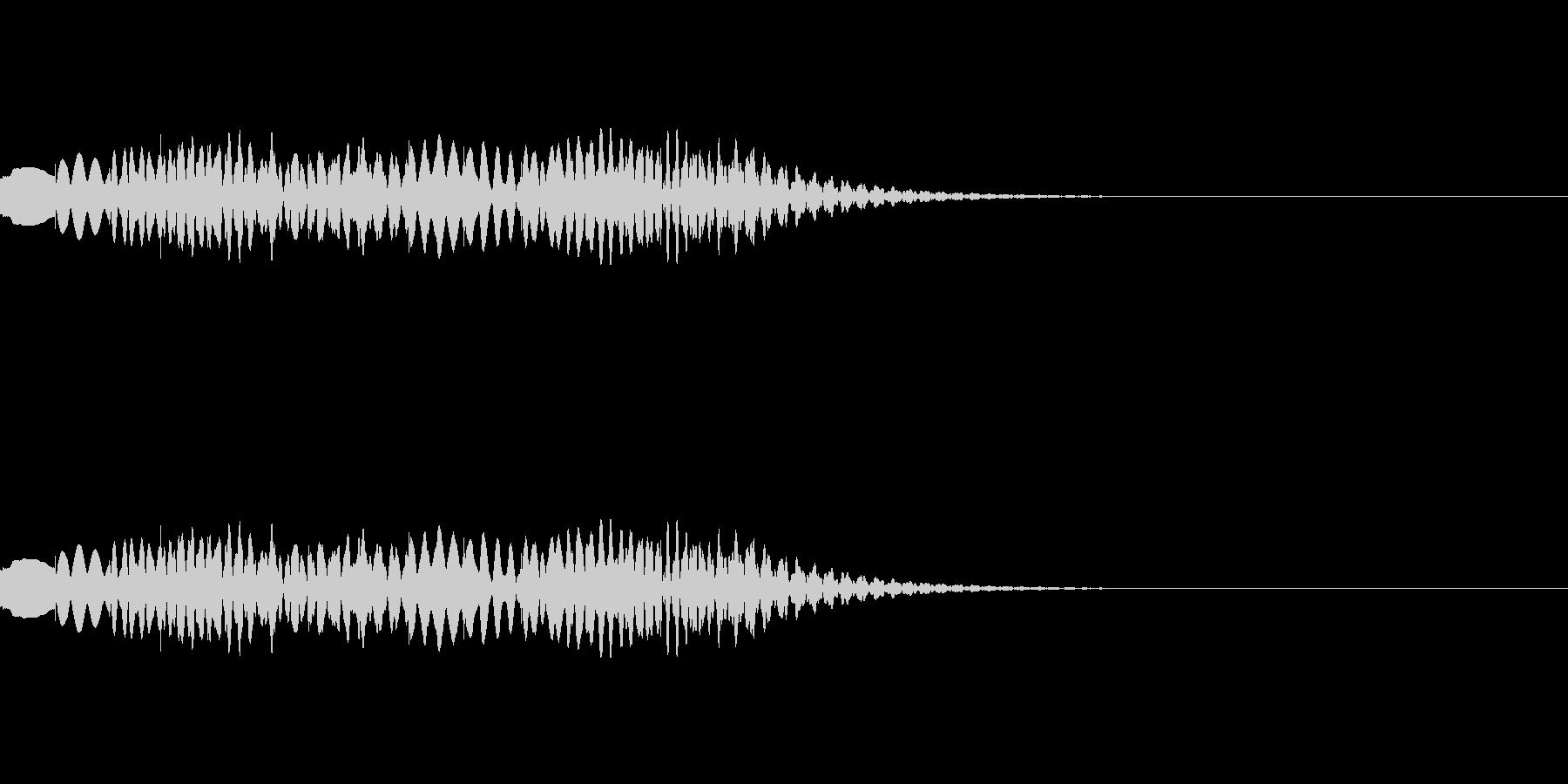 下がって上がる木琴グリッサンドの未再生の波形