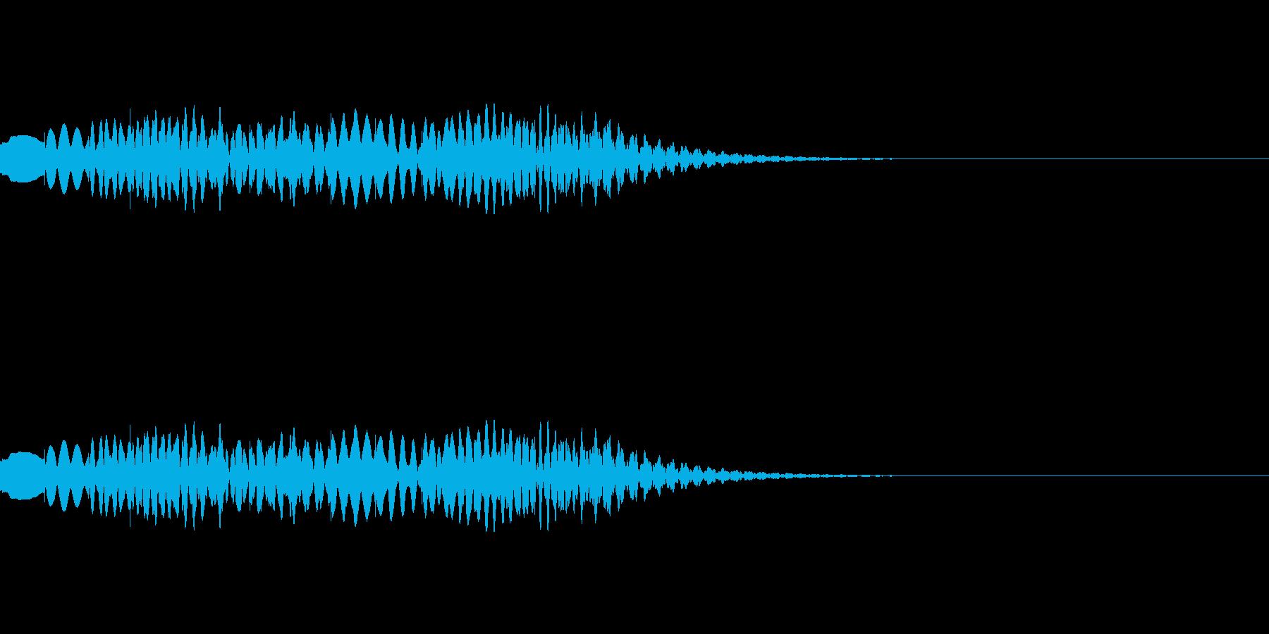 下がって上がる木琴グリッサンドの再生済みの波形