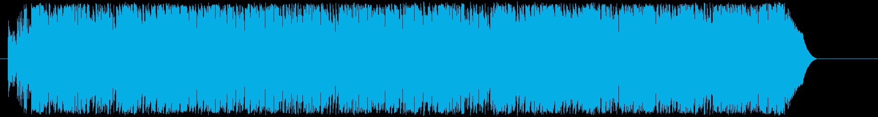 エキサイティングで明るいポップの再生済みの波形