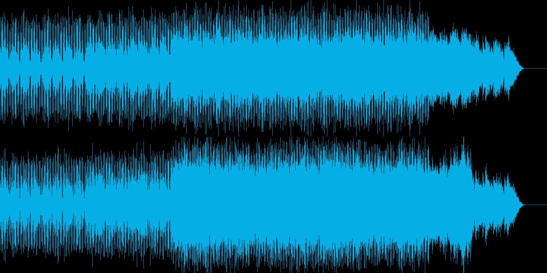 星空のドリーミーな雰囲気のテクノBGMの再生済みの波形