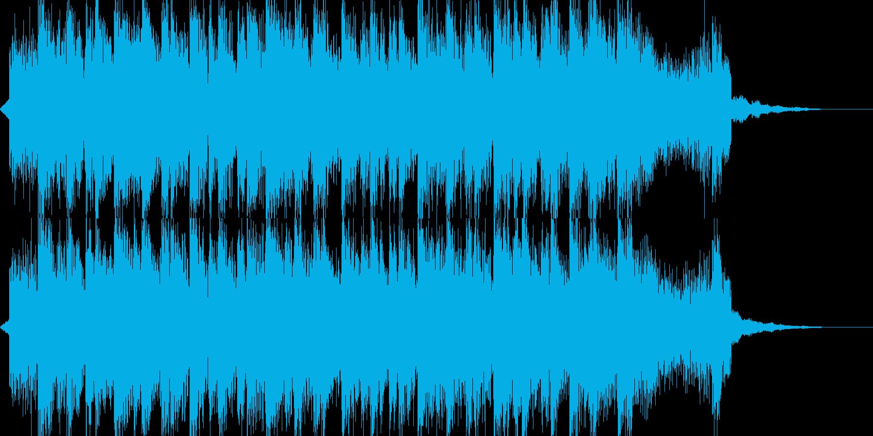 コミカルなドラムンベースの再生済みの波形