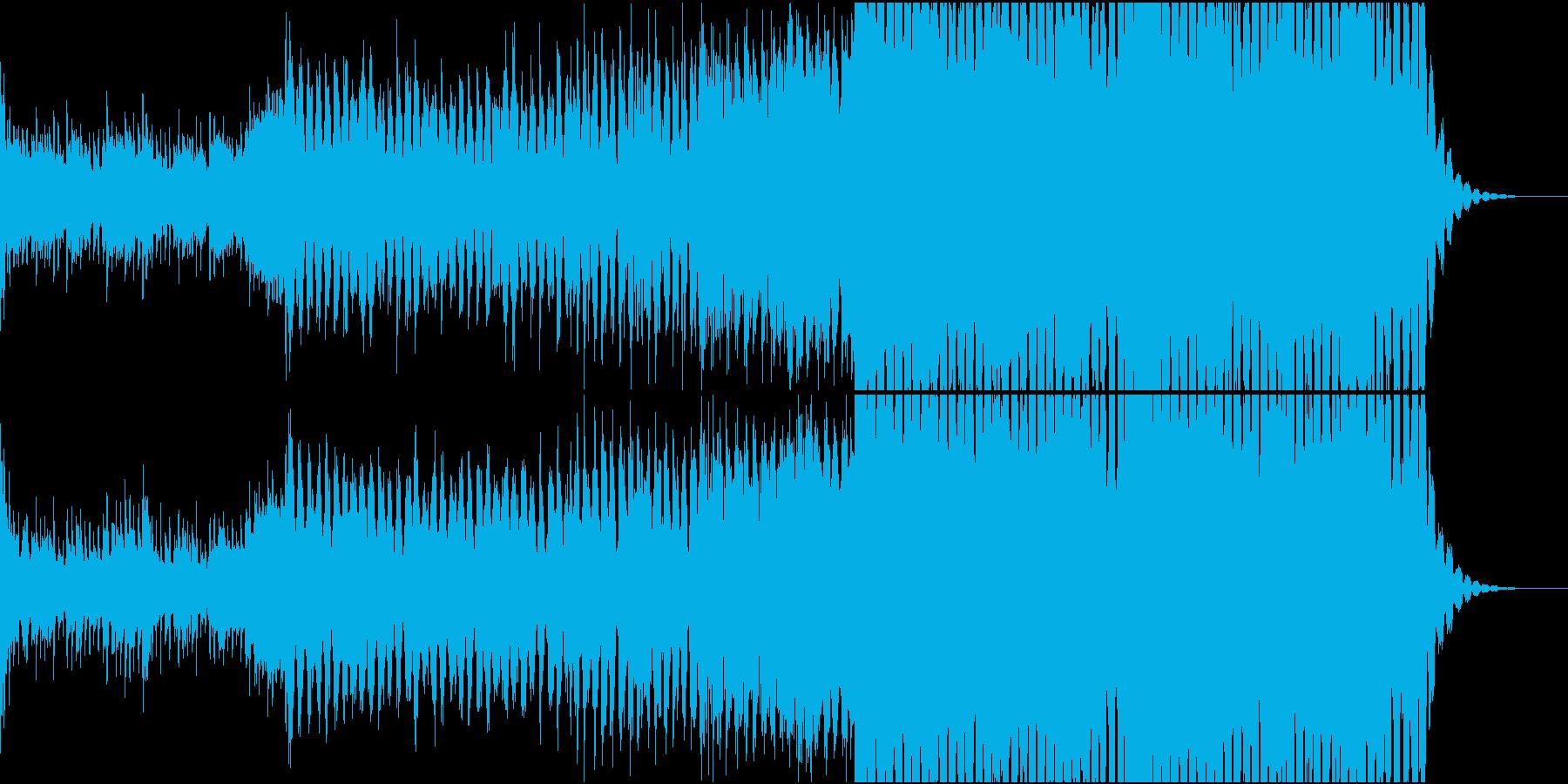 綺麗だけど明るい未来が想像できるEDMの再生済みの波形