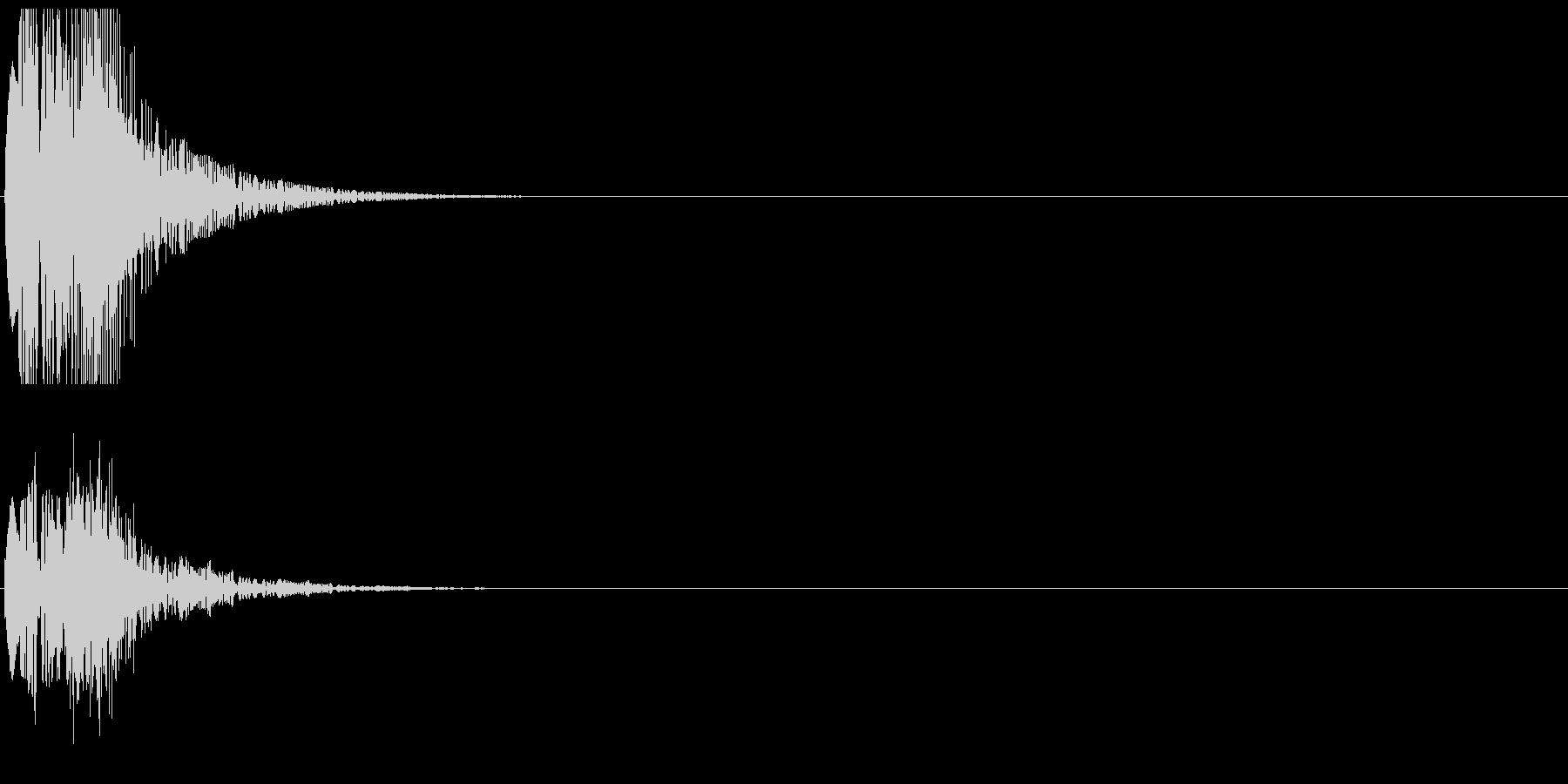 決定音08(ポピャン)の未再生の波形