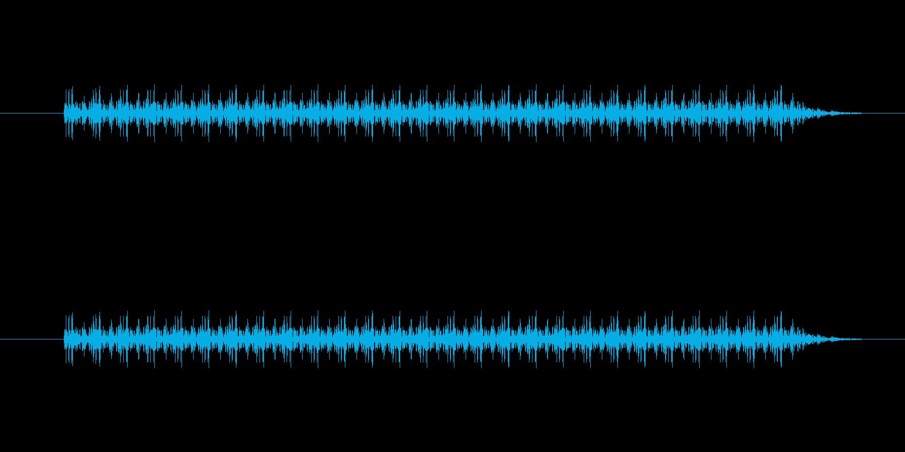 ダダダダ!というガトリングなどの銃声1の再生済みの波形