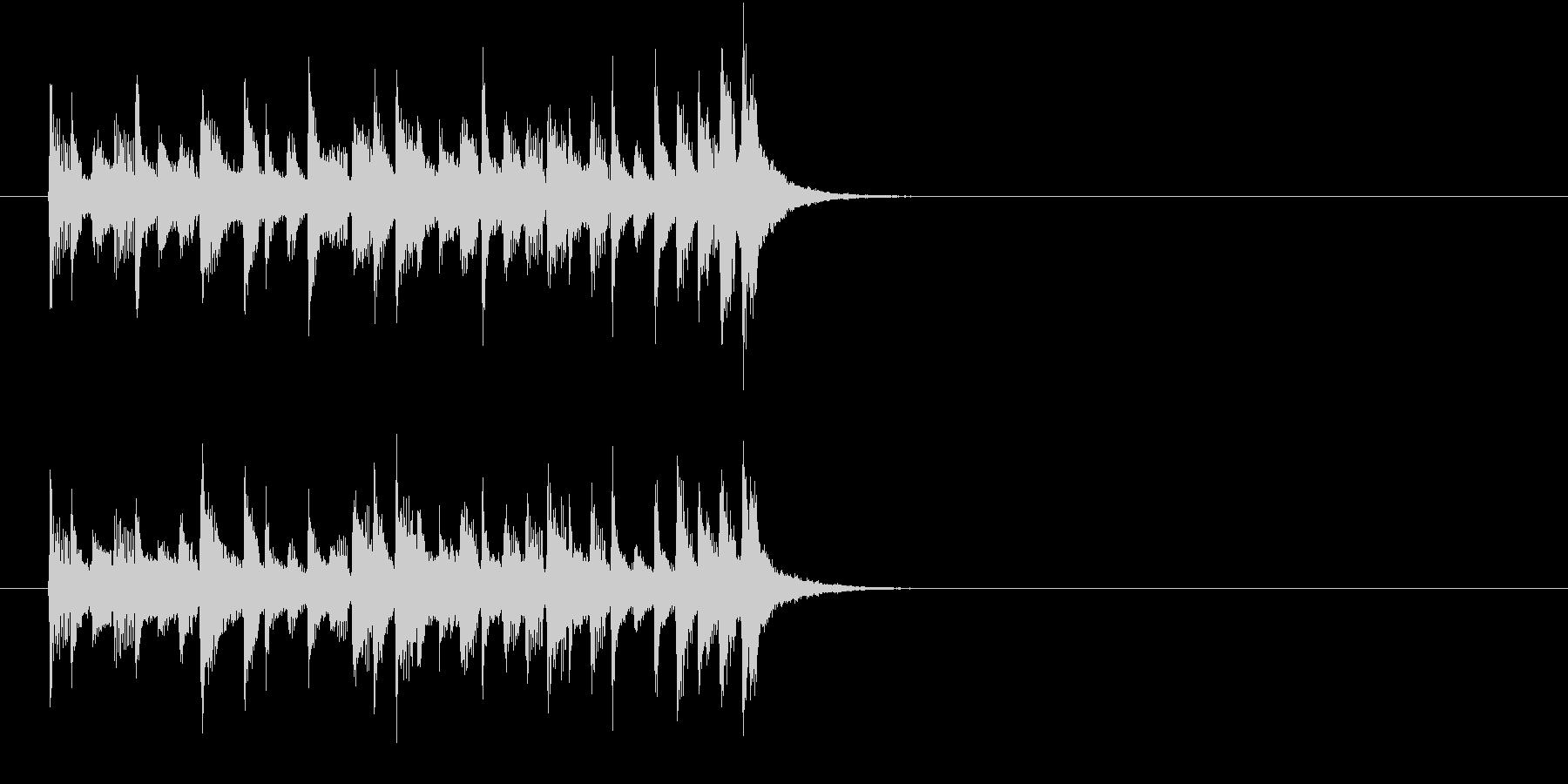 ジングル(おだやかな感じ)の未再生の波形