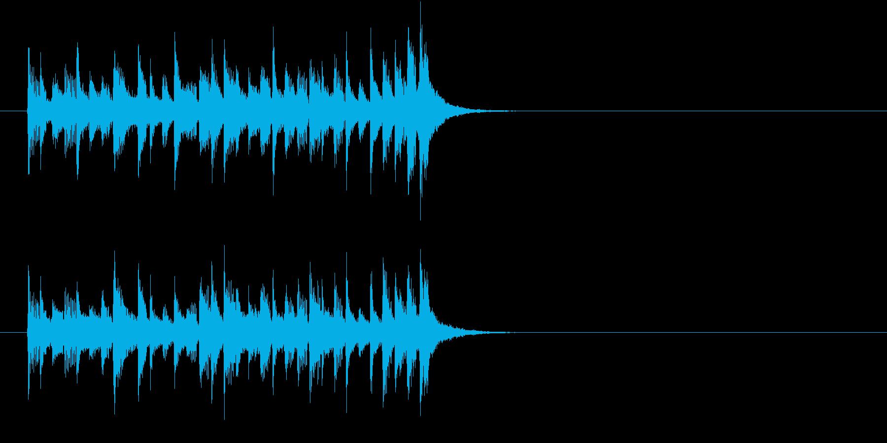 ジングル(おだやかな感じ)の再生済みの波形
