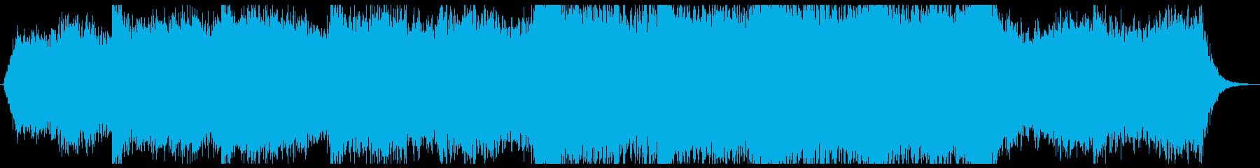 ダークな雰囲気のエピック系トレイラー音楽の再生済みの波形
