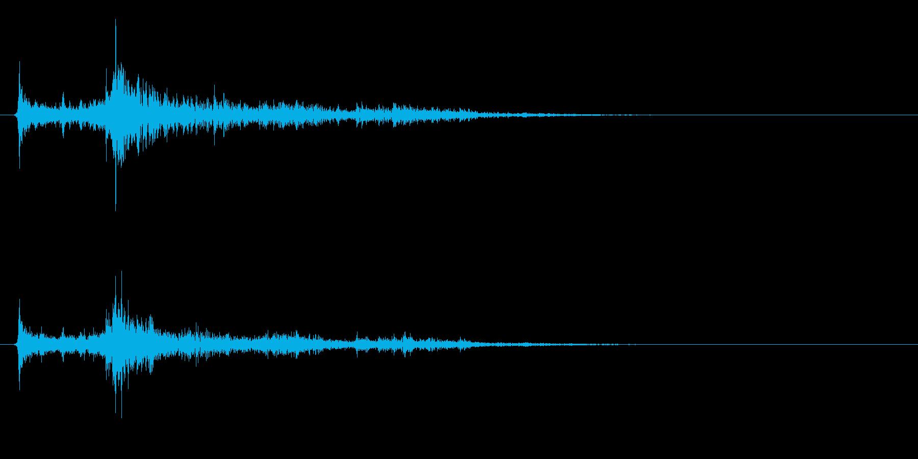 水に飛び込む音02の再生済みの波形