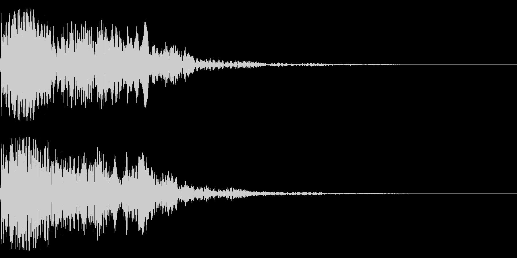 太鼓と尺八の和風インパクトジングル!12の未再生の波形