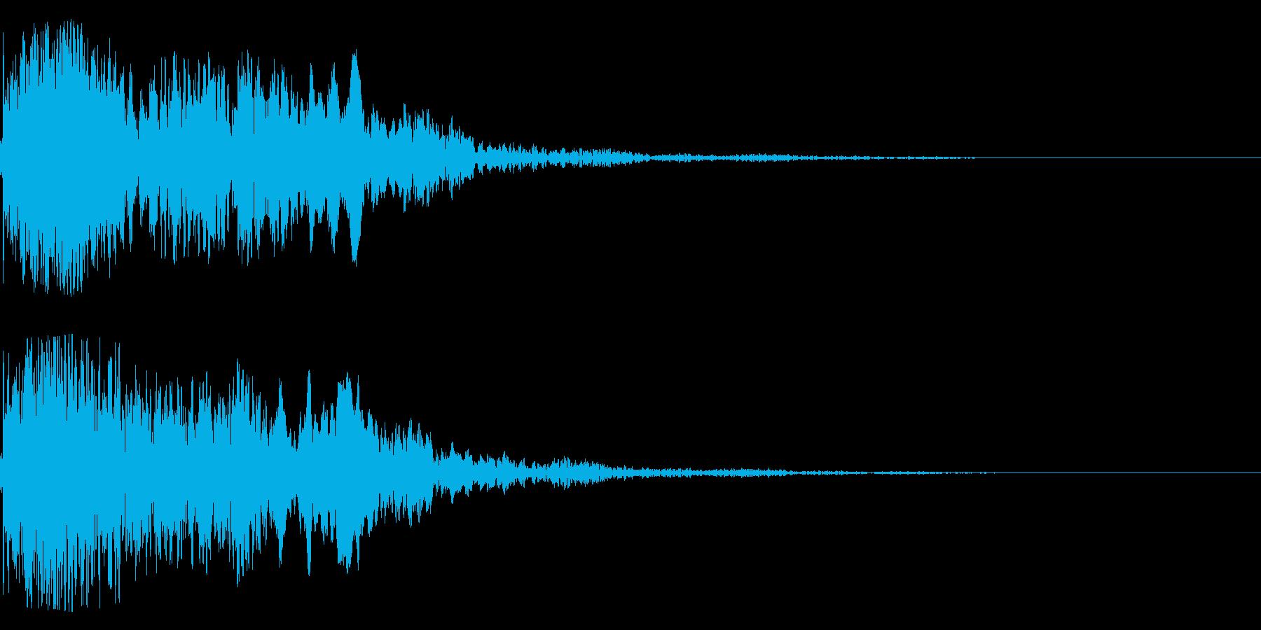 太鼓と尺八の和風インパクトジングル!12の再生済みの波形