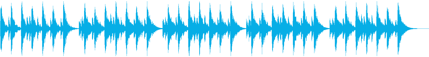 シンセの心地よいBGM(リードなし)の再生済みの波形