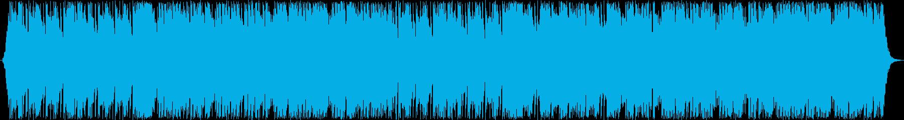 シンプルながらも迫力あるファンタジー楽曲の再生済みの波形