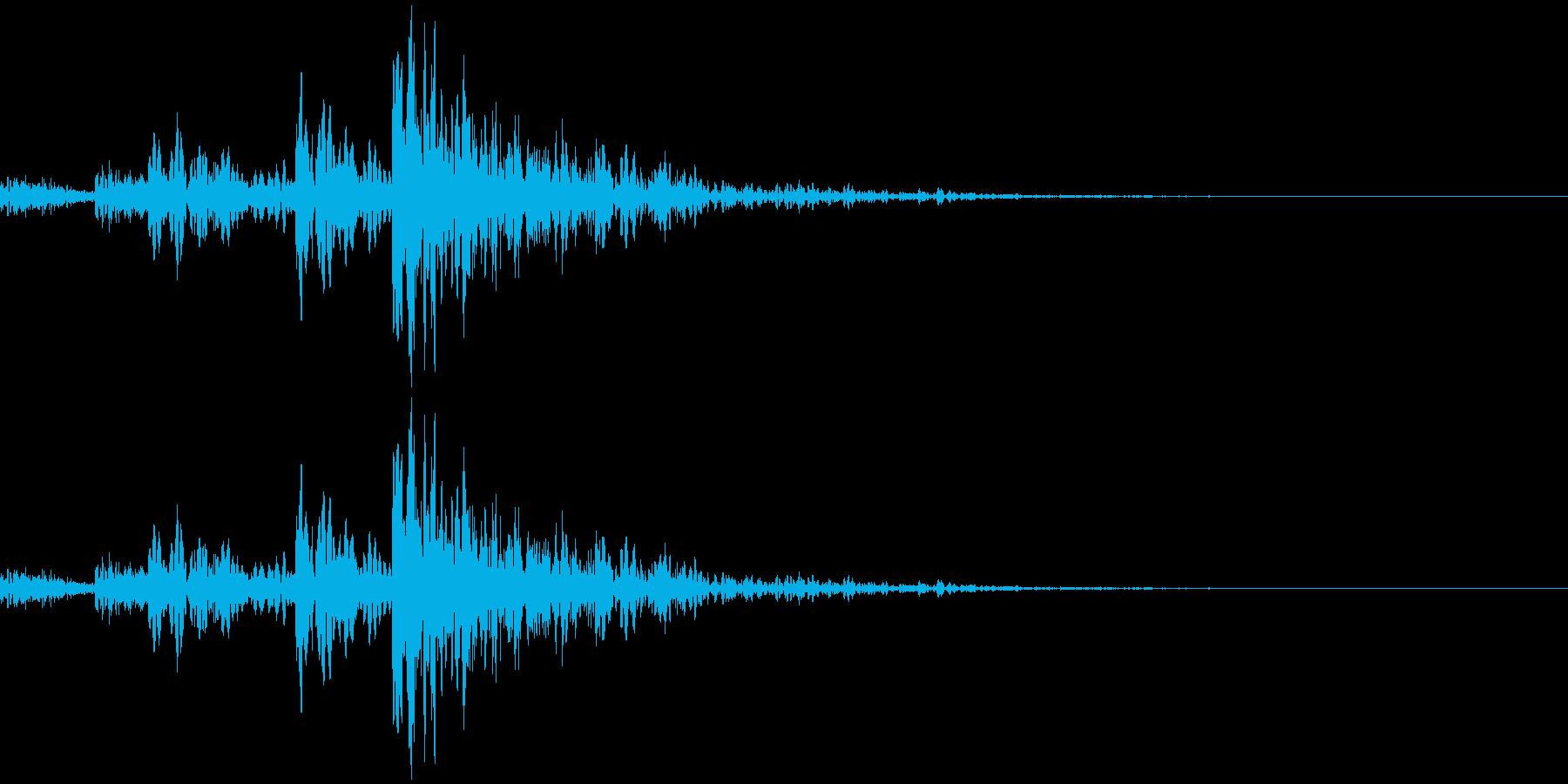 マーチングドラム風のアクセントです。場…の再生済みの波形