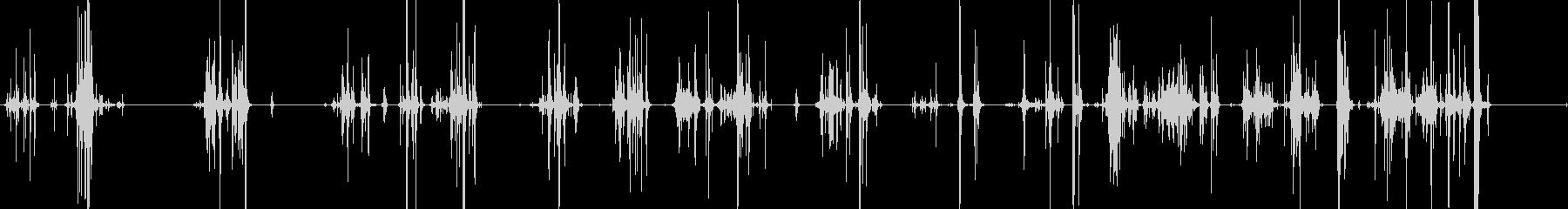ガチャガチャ(金属音)の未再生の波形