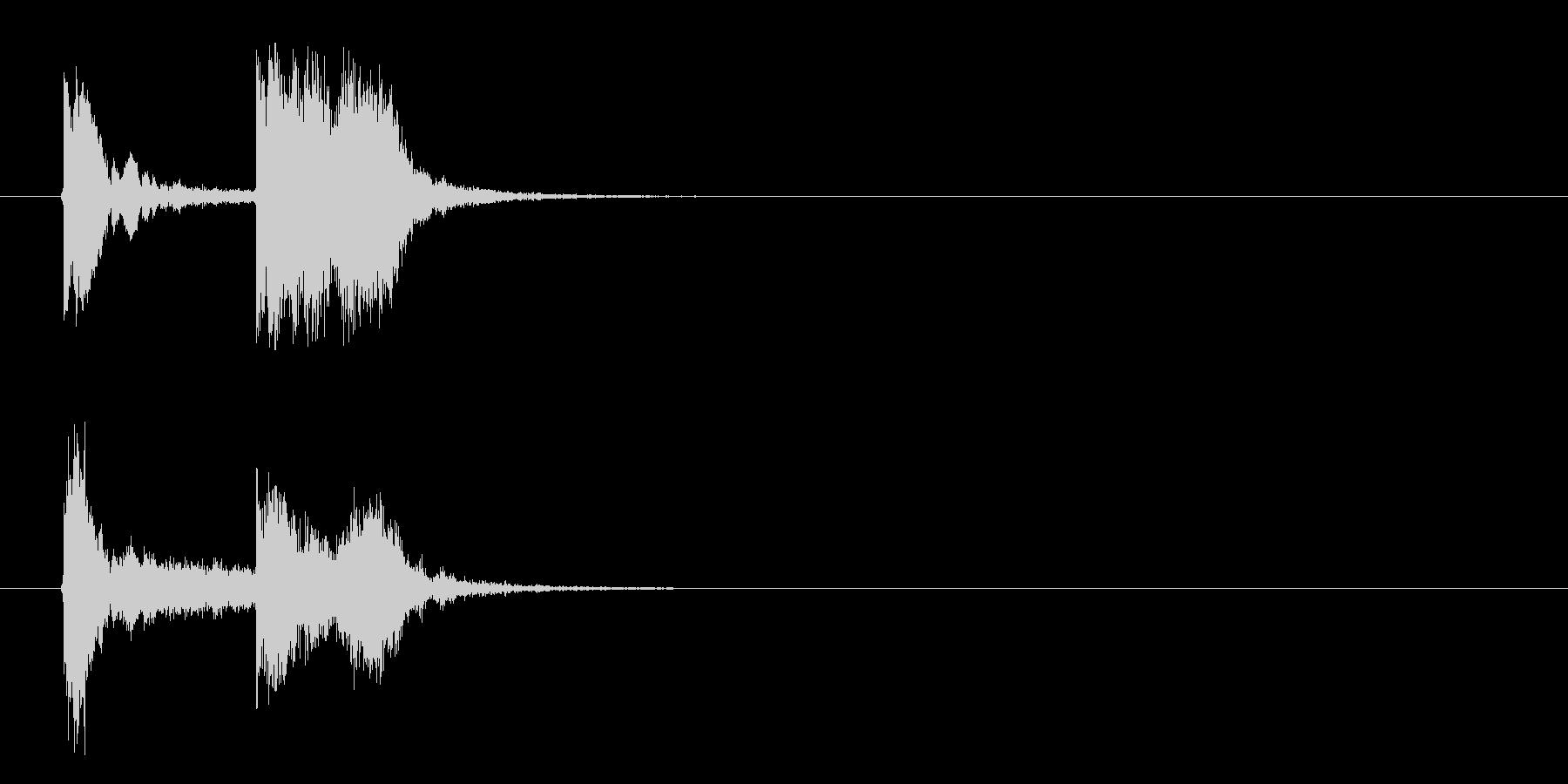 近未来的なテクノポップのジングル曲の未再生の波形