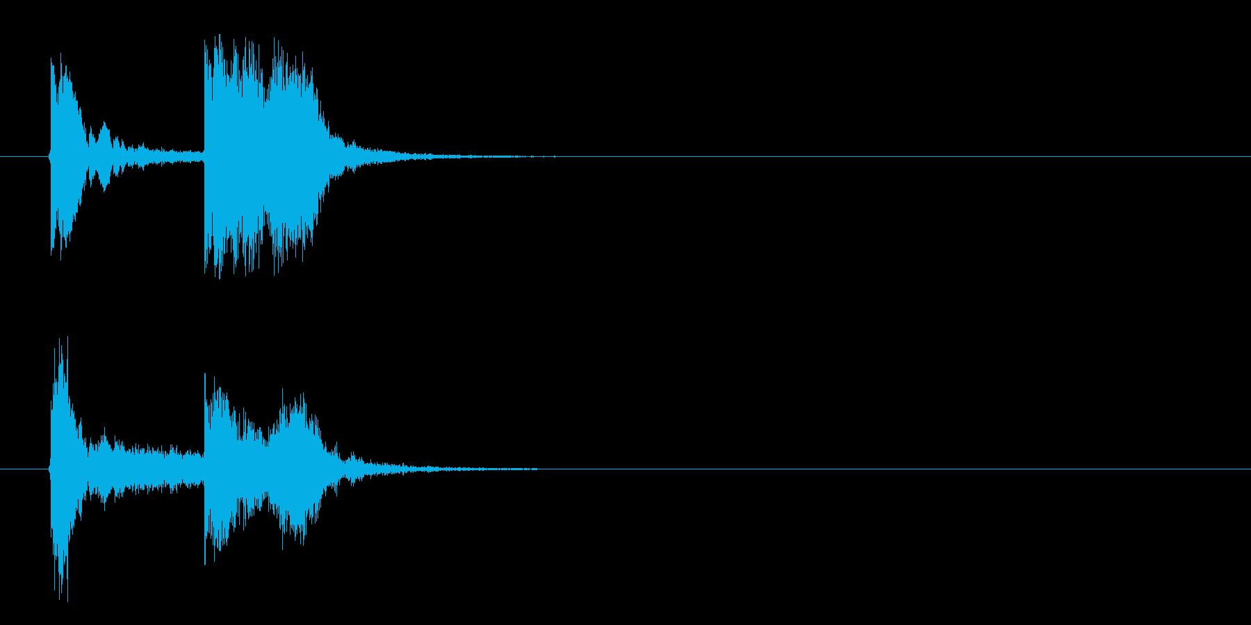 近未来的なテクノポップのジングル曲の再生済みの波形