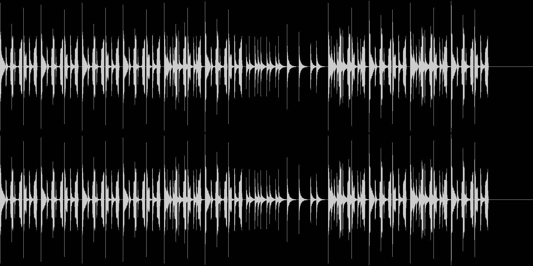 先進的で楽しいトイピアノの曲ですの未再生の波形