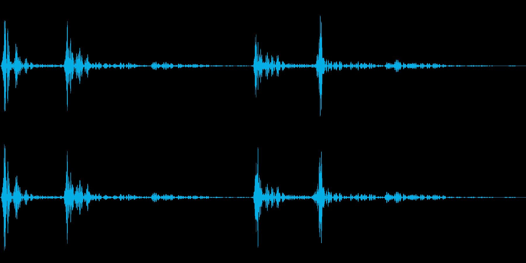 ドックンドックン(心臓音)01の再生済みの波形