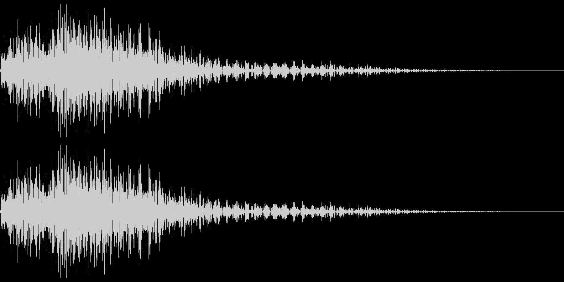 衝撃音(ギャン/ビャン)の未再生の波形