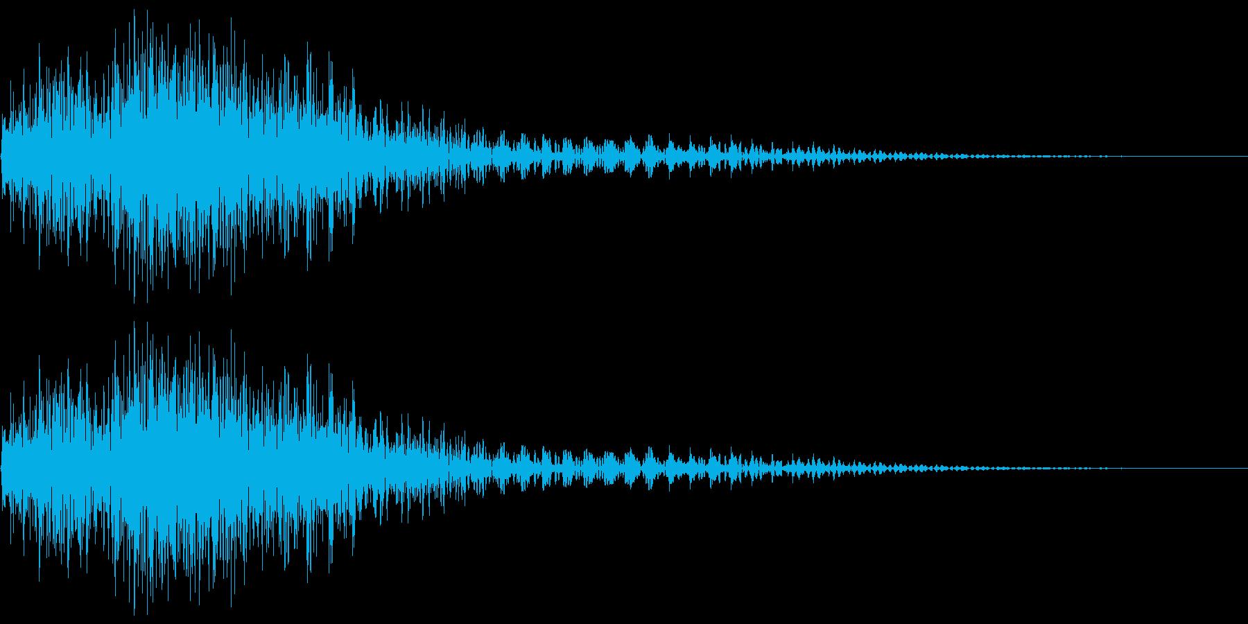 衝撃音(ギャン/ビャン)の再生済みの波形