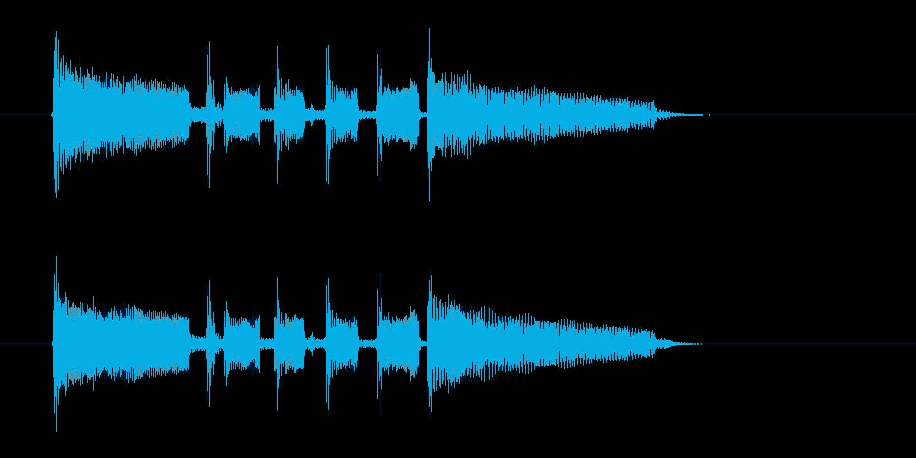 ジャズとポップスの融合の再生済みの波形