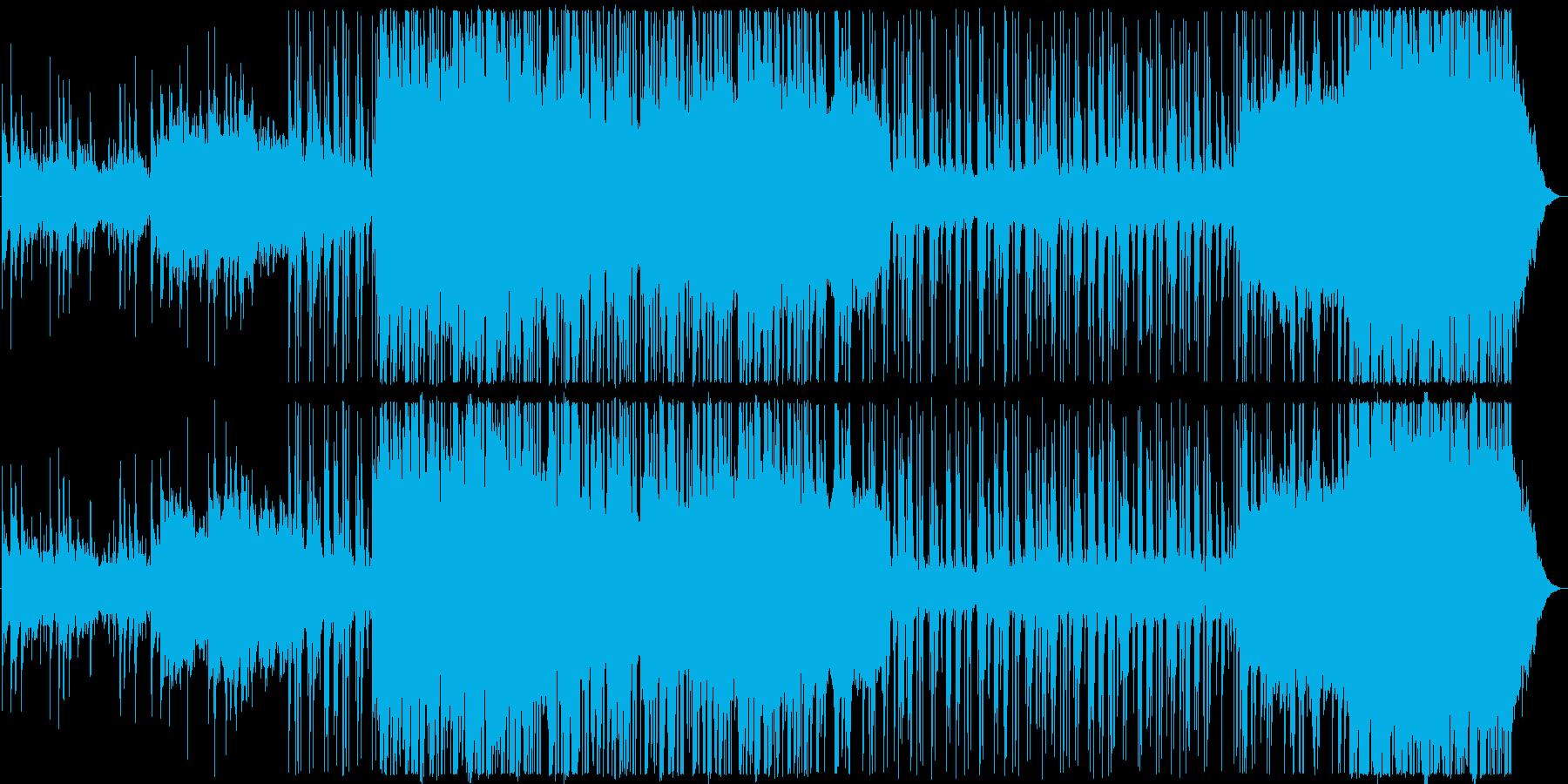 海 流氷 エレクトロニカ 和音階グリッチの再生済みの波形