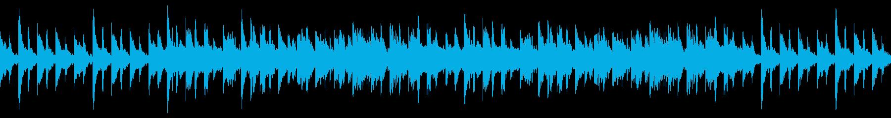 ドラマアニメ、劇伴用ピアノ曲1の再生済みの波形