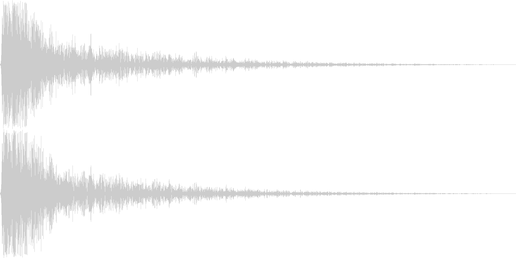 ガン。ショック・衝撃を受けた音(低)の未再生の波形