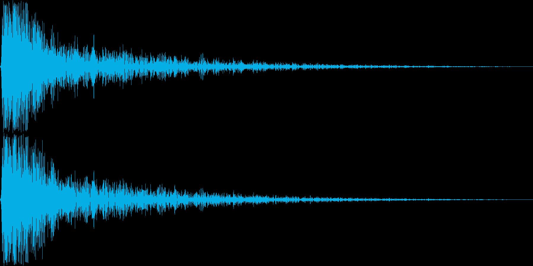 ガン。ショック・衝撃を受けた音(低)の再生済みの波形