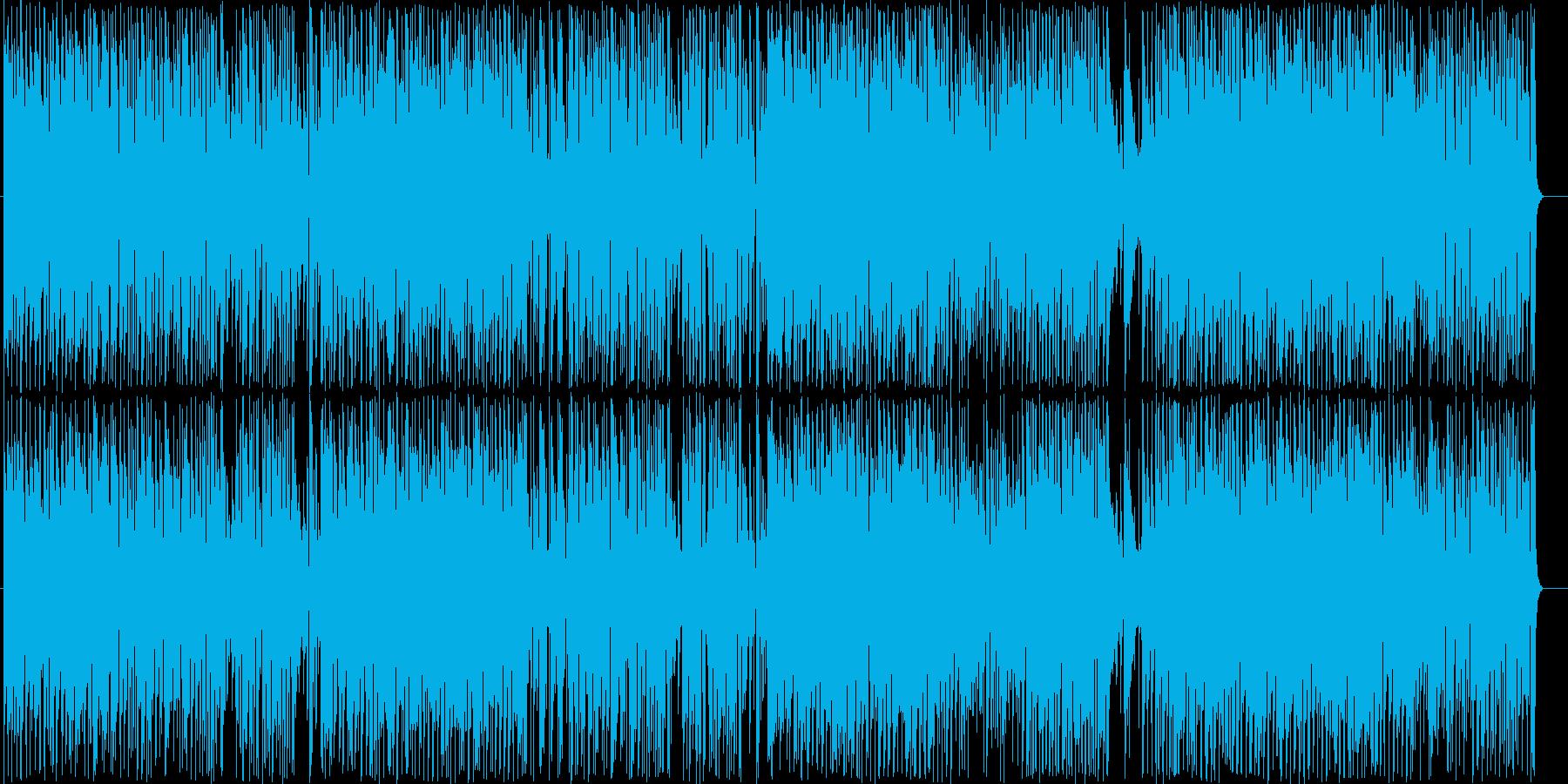 スキップしたくなるような軽快な曲の再生済みの波形