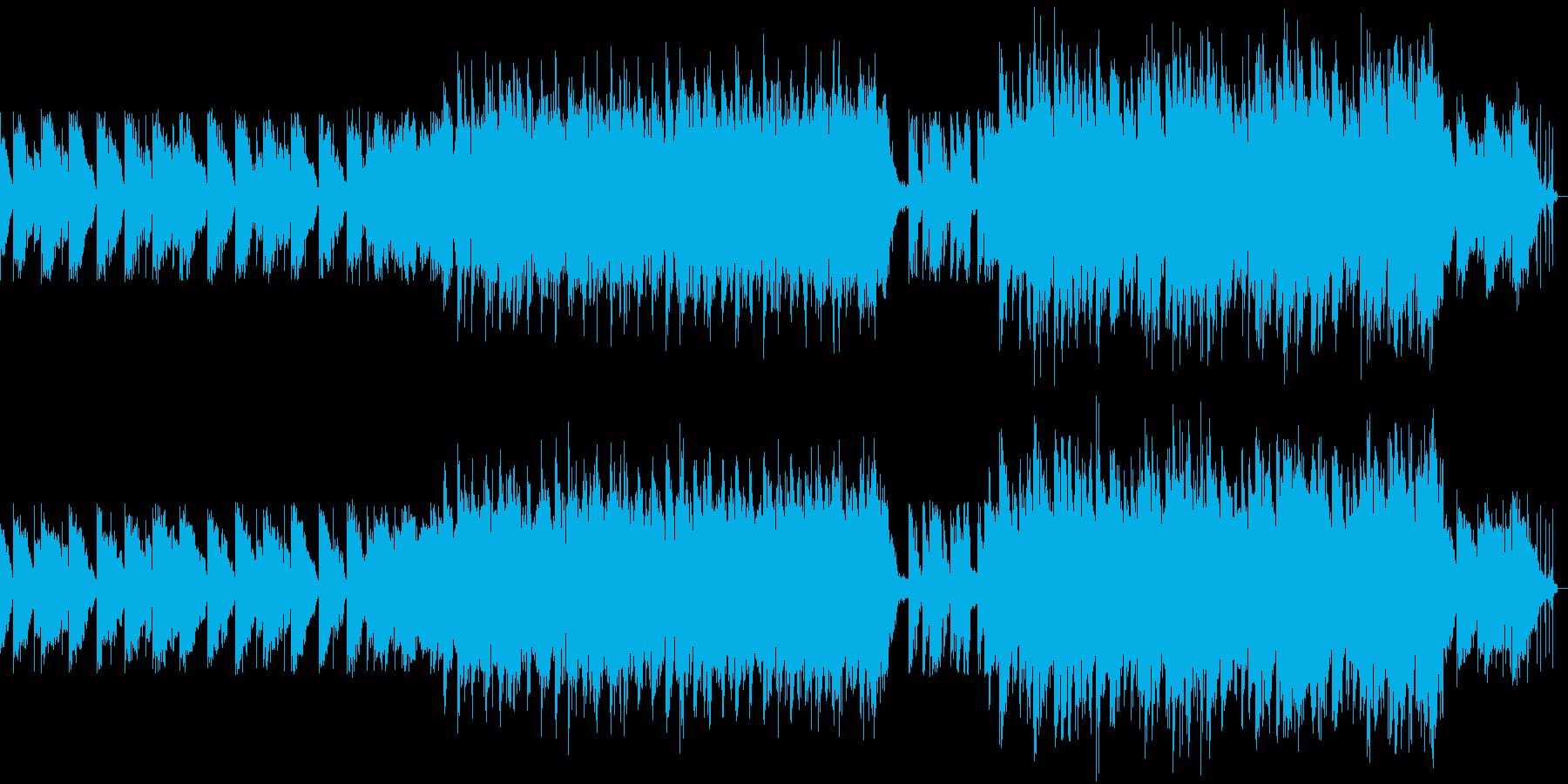 アップテンポなEDMの再生済みの波形
