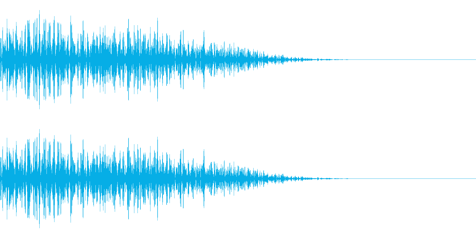 ガーッ(重い物を動かす音)の再生済みの波形