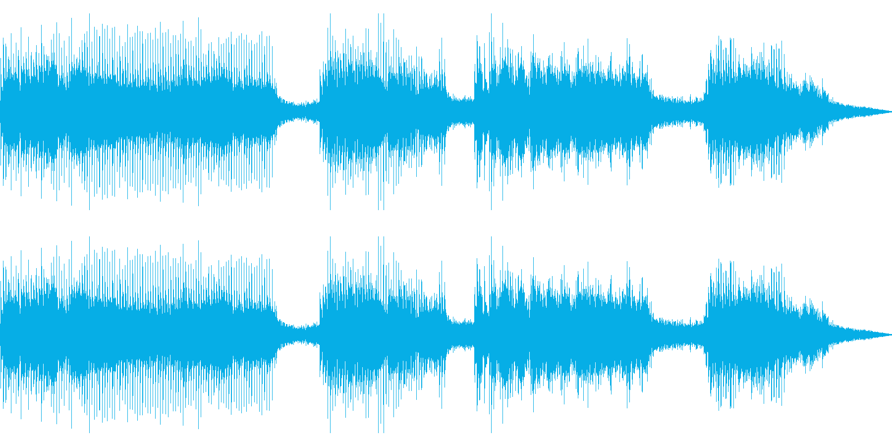 ドリル/電気ドリル,工事の効果音03の再生済みの波形