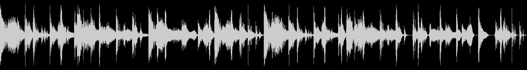 2-stepのリズムにファンクの未再生の波形