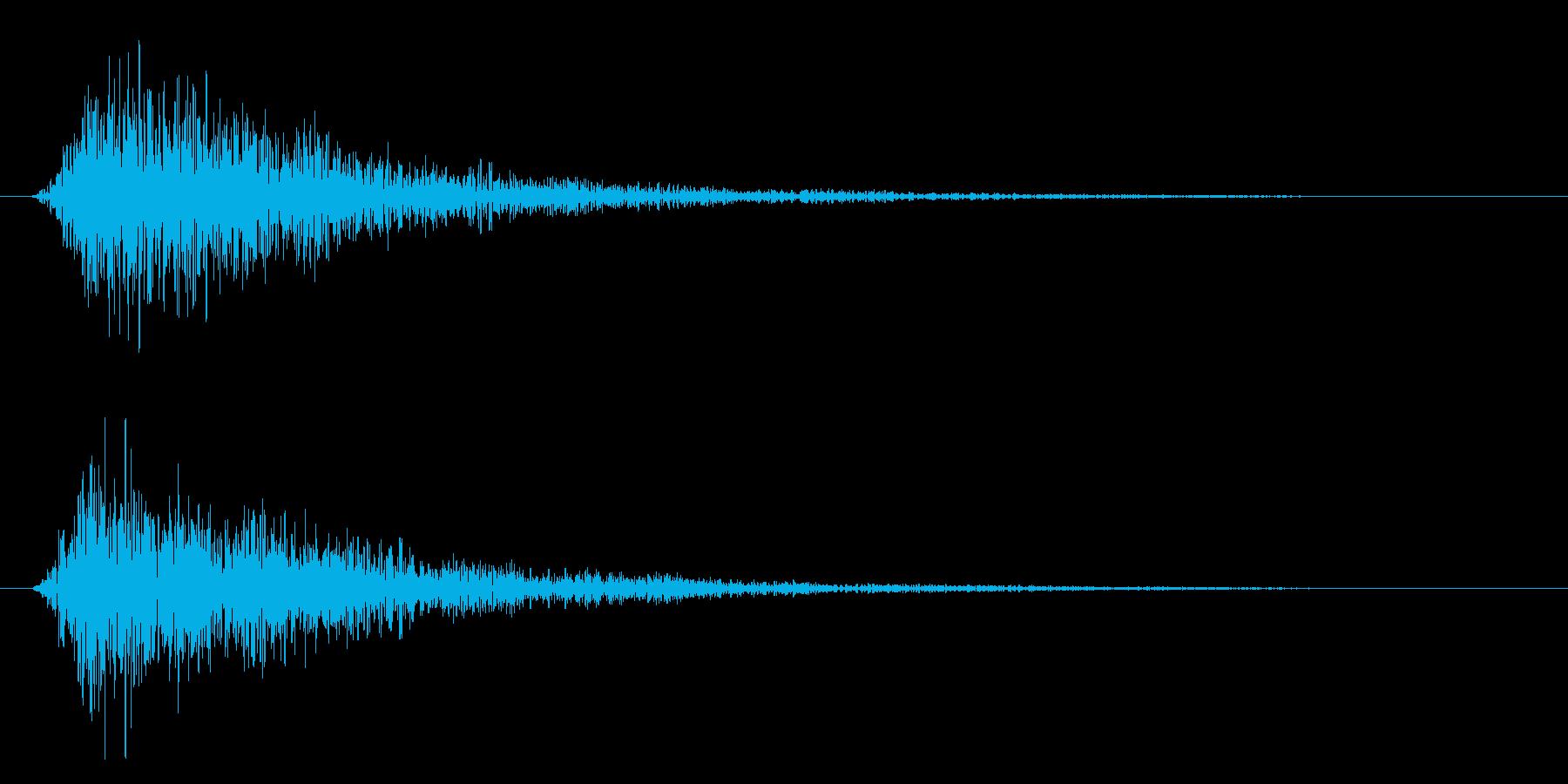 ホワン(呪文・魔法発動・エフェクト音)の再生済みの波形