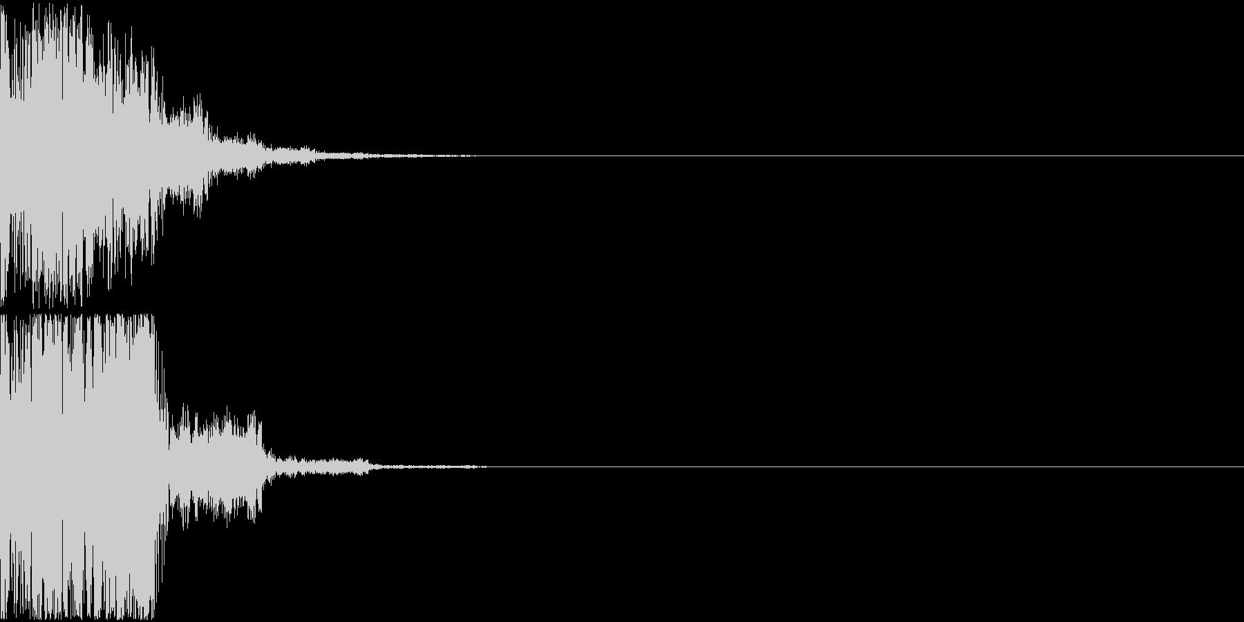 ピロリン(決定音)の未再生の波形
