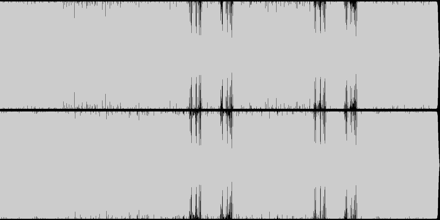 ムーディーなテクノの未再生の波形