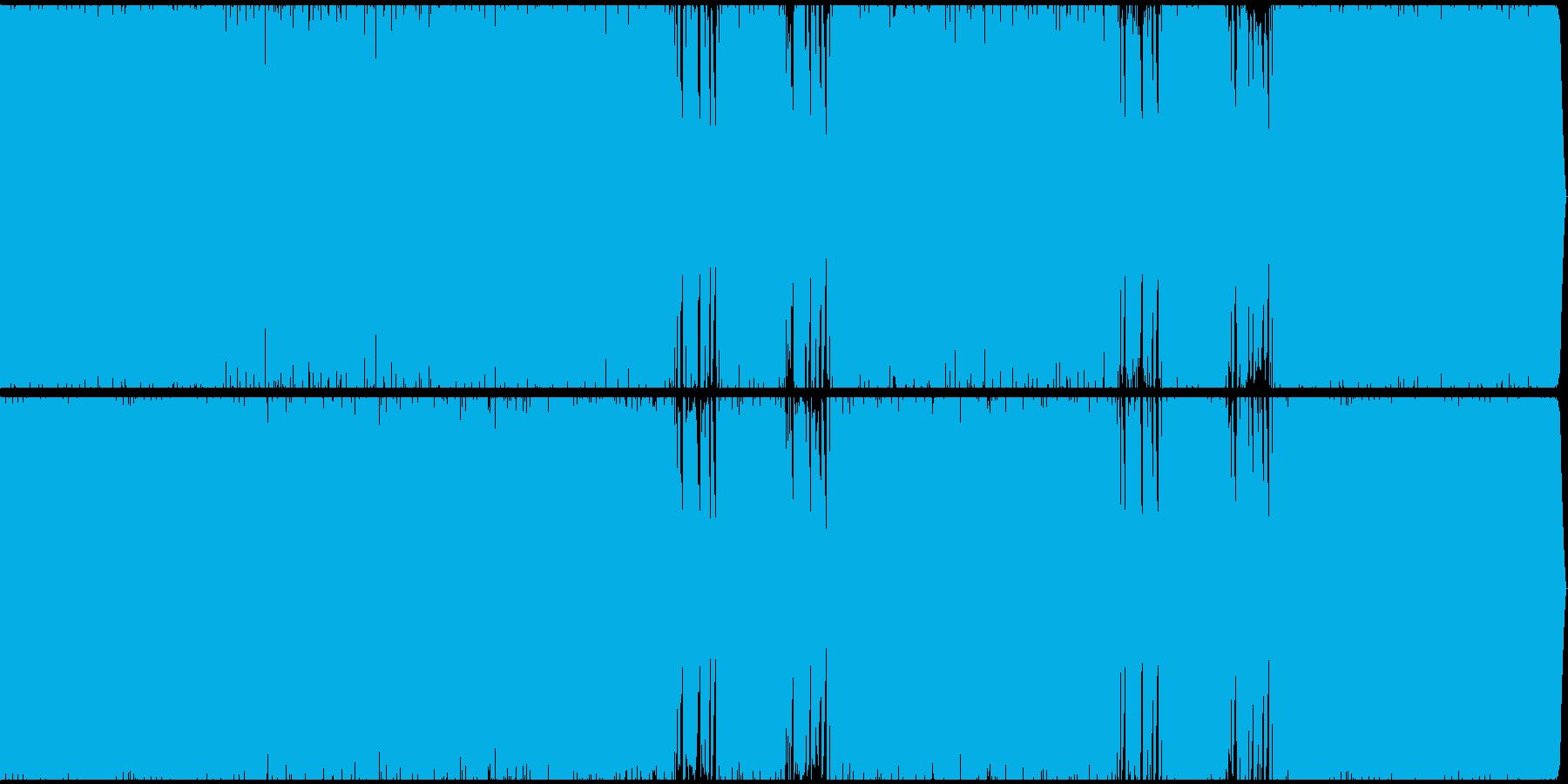 ムーディーなテクノの再生済みの波形